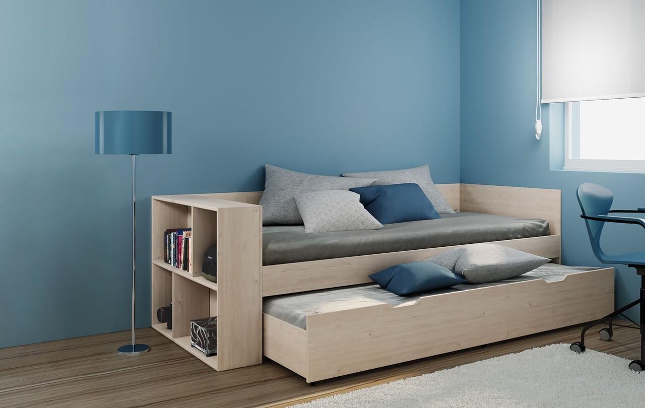 Pat etajat pentru camera copilului, Bedora, City 2020, 228 x 96 x 76 cm, PAL, maro