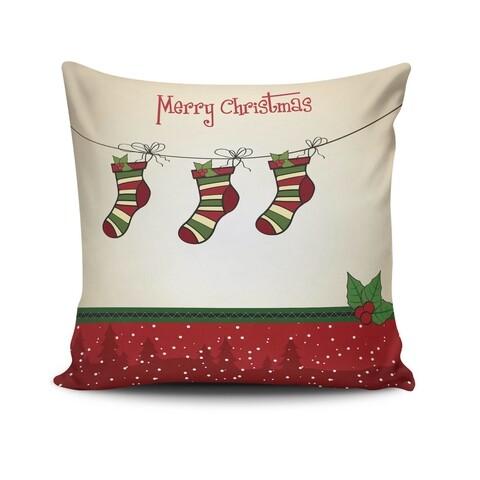 Perna decorativa, Christmas NOELKRLNT-4, 43x43 cm, policoton, multicolor