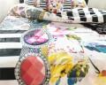 Lenjerie de pat pentru doua persoane Aisha White, Melli Mello,100% bumbac satinat