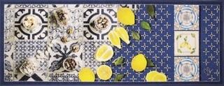 Covor pentru bucatarie, Olivio Tappeti, New Smile Modern, Blue Lemons, 50 x 100 cm, nylon, multicolor