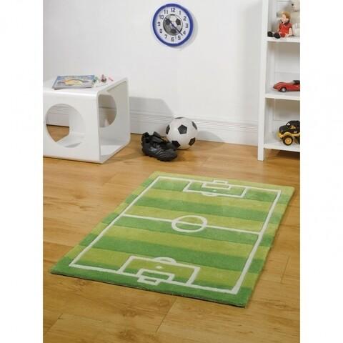 Covor Kiddy Play Football Pitch Green 100X150 cm