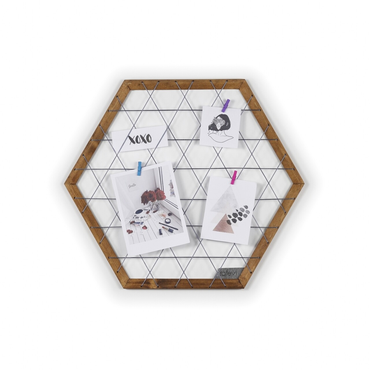 Panou memo de perete Rafevi Tuva, 60 x 52 cm, antracit