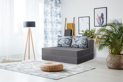 Canapea extensibila Urban Living Bedora 136x80x40 cm Grey/Grey Flower
