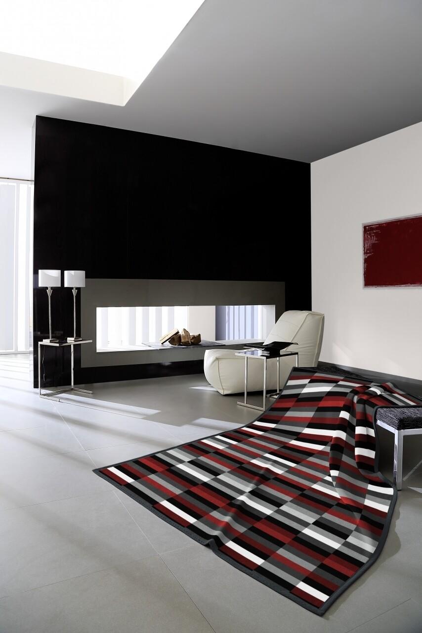 Patura Biederlack Modern Basic Mauerwerk, 150x200 cm, Multicolor
