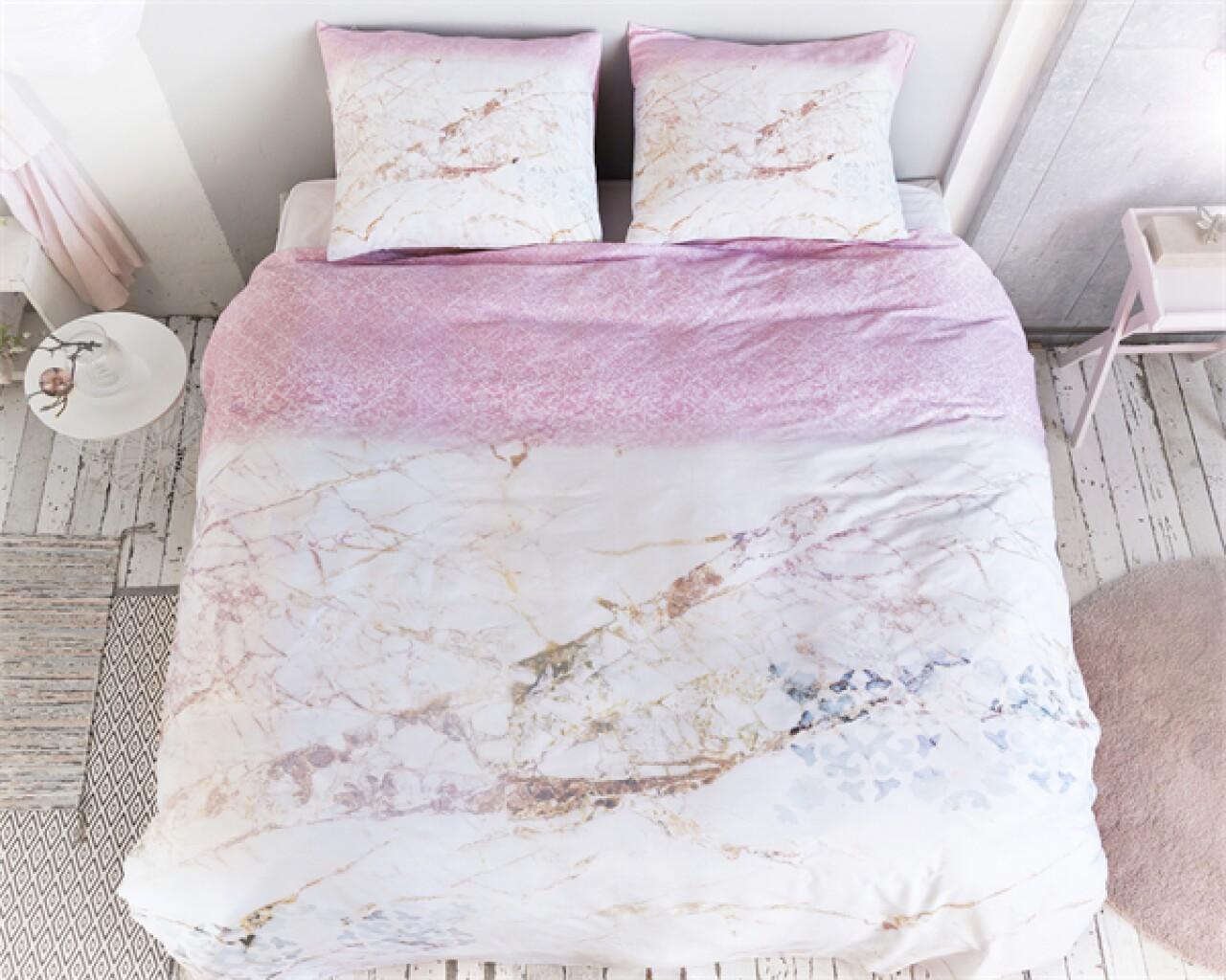Lenjerie de pat pentru doua persoane Ivy White, Royal Textile, 100% bumbac satinat