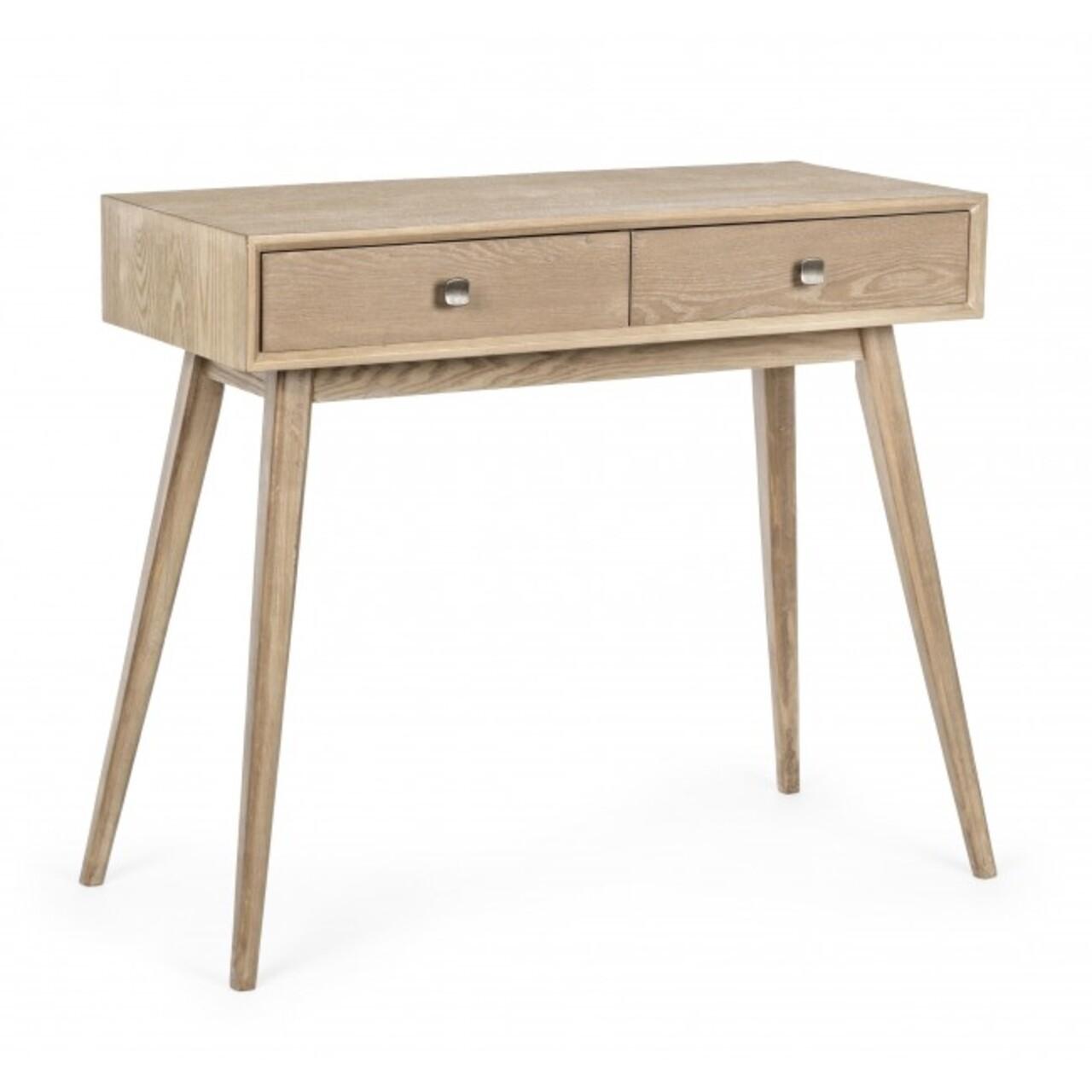 Consola cu 2 sertare, Alannis, Bizzotto, 90x40x75 cm, lemn de frasin