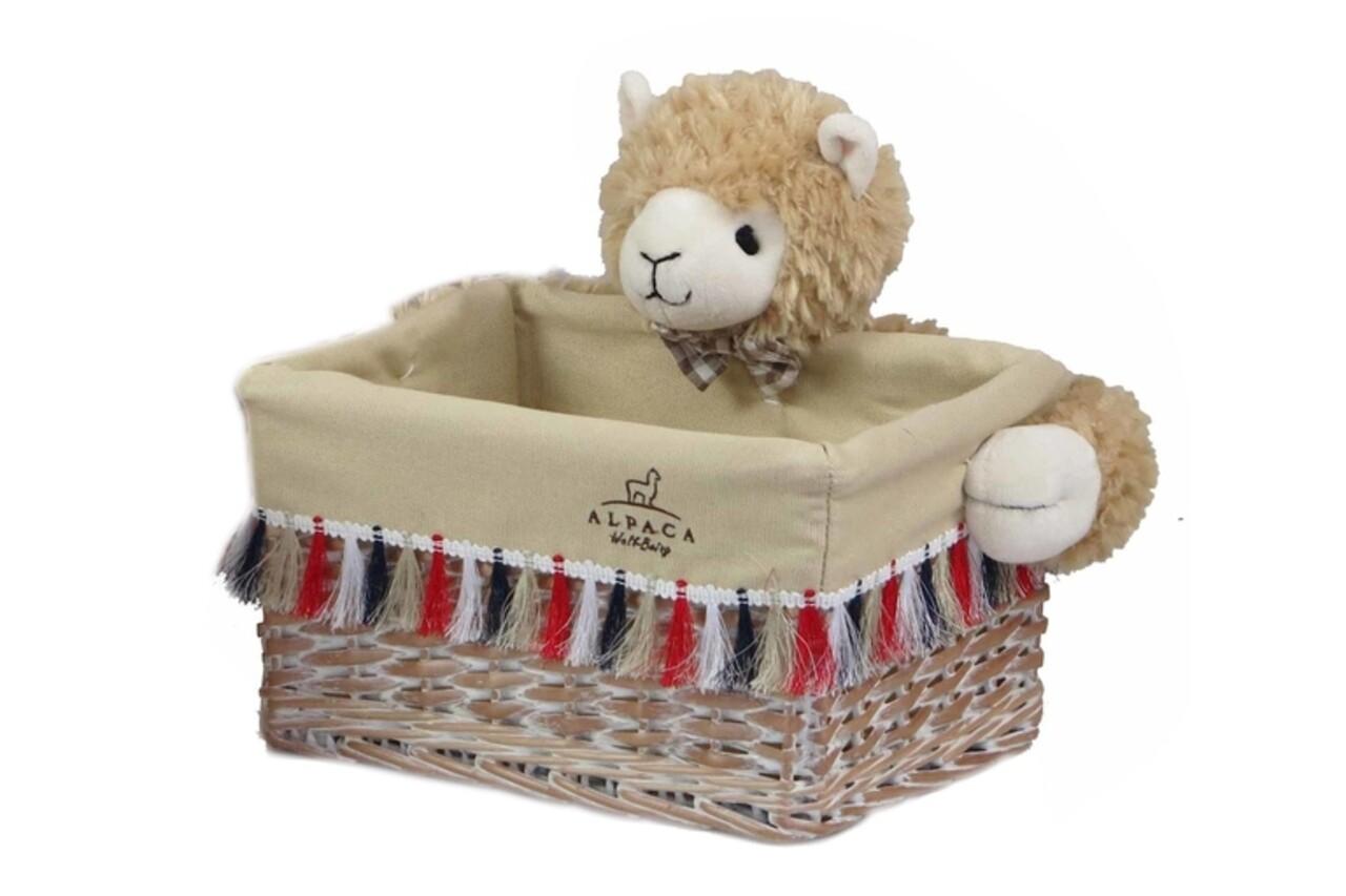 Cos S Alpaca, Bedora, salcie/material textil, multicolor