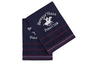 Set 2 prosoape de maini, Beverly Hills Polo Club, 403, 50x90 cm, 100% bumbac, bleumarin