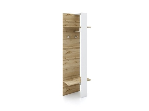 Cuier, Bedora, City 4046, 56 x 30.2 x 183 cm, PAL, stejar/alb