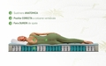Saltea Aloe Vera Memory Pocket 7 zone, Husa Aloe Vera, Super Ortopedica, Anatomica, 180x190 cm