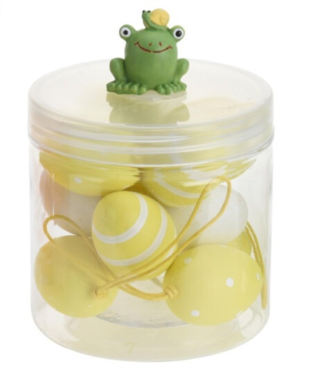 Set 12 oua decorative Easter Egg, polipropilena, galben