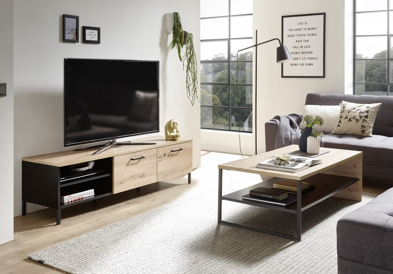 Comoda TV, Lucas, 155 x 43 x 42 cm, PAL, multicolor
