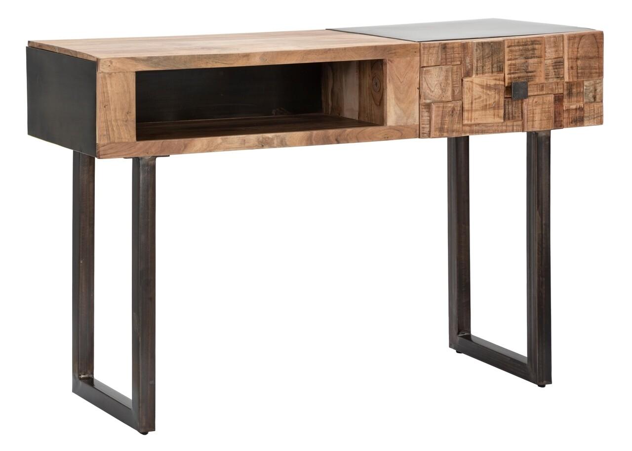 Consola Mumbai, Mauro Ferretti, 118x40x76 cm, lemn de salcam/fier