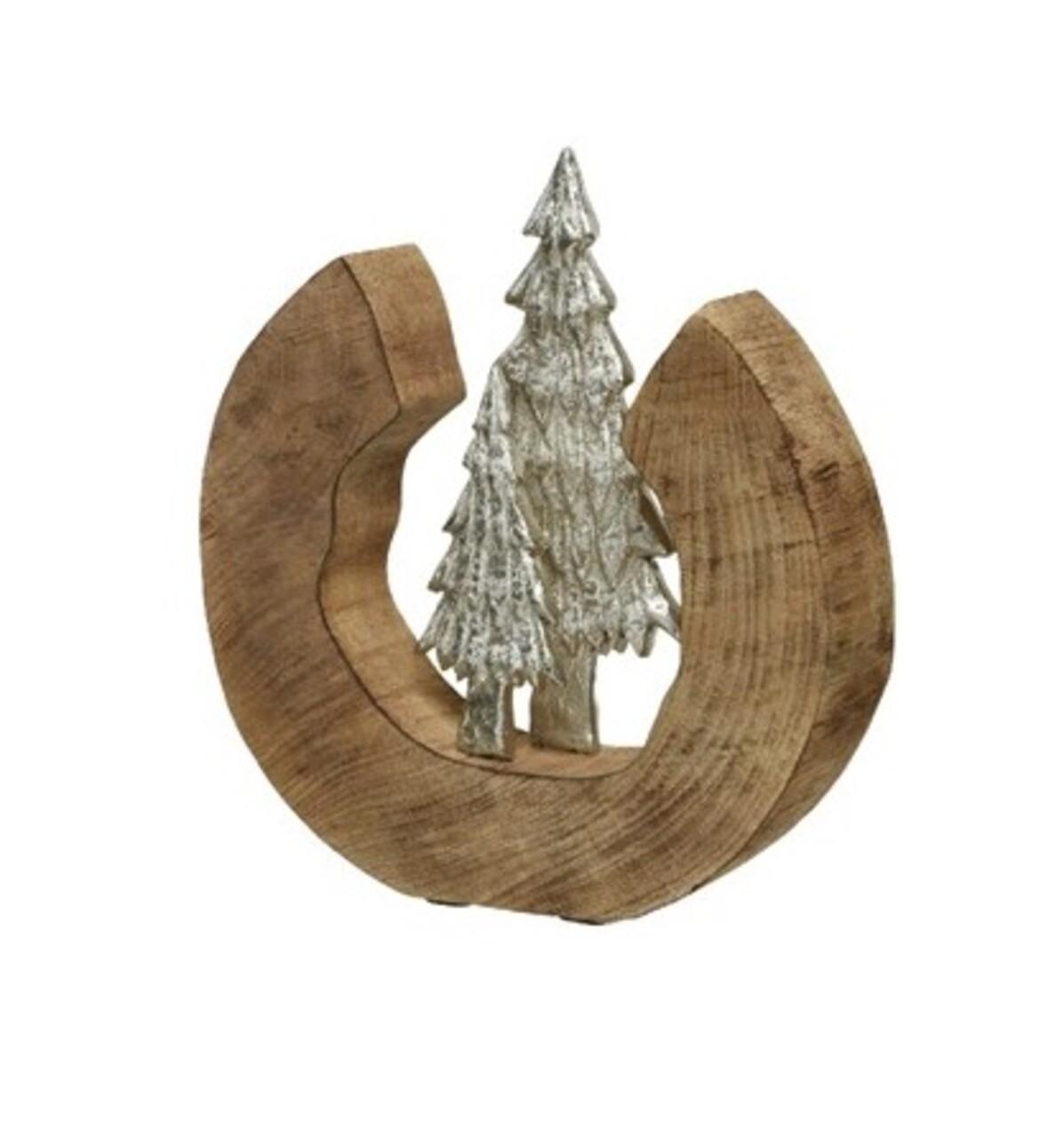 Decoratiune Pin, Decoris , 6x28x33 cm, lemn de mango