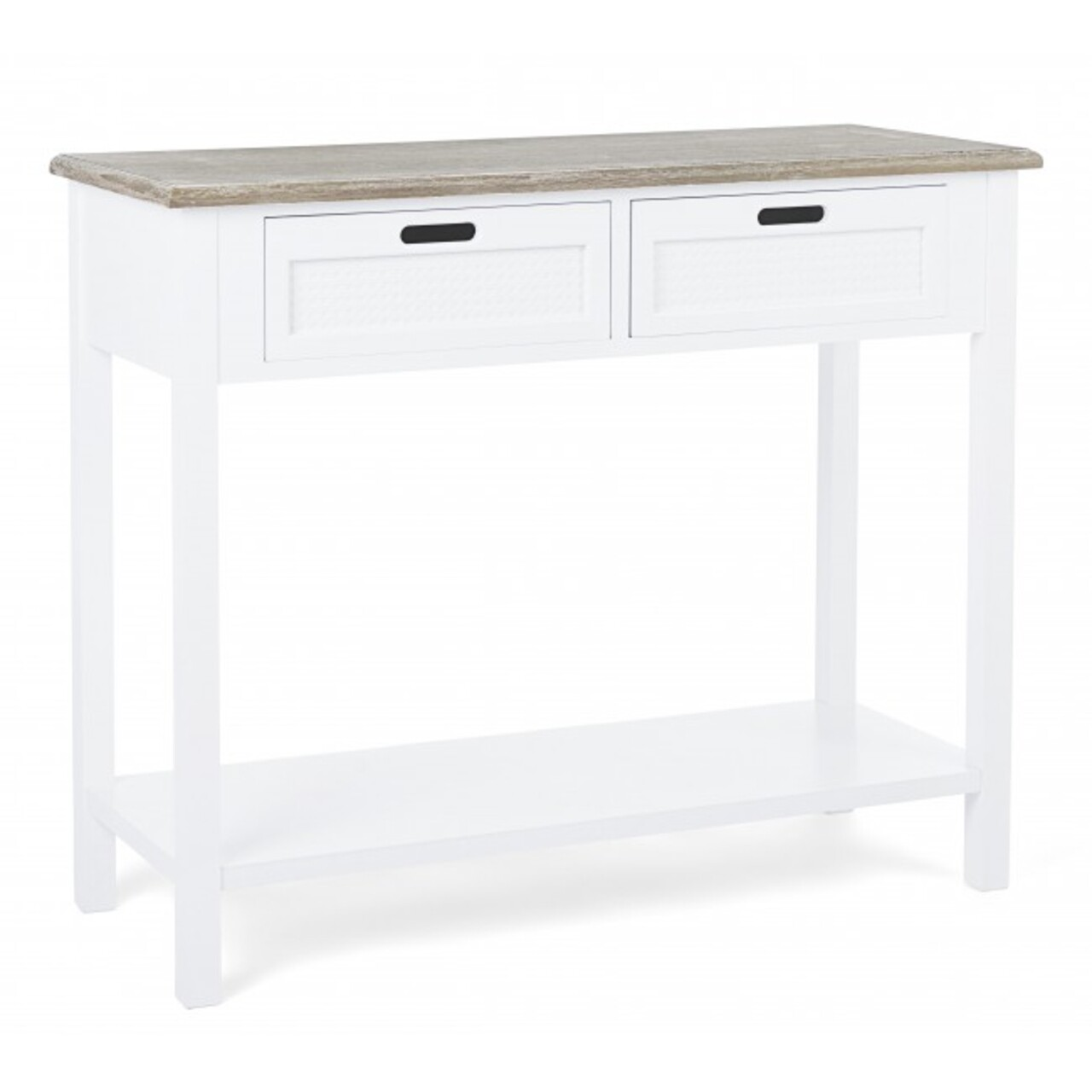 Consola cu 2 sertare, Dorotea, Bizzotto, 100x40x80 cm, lemn de pin/lemn de paulownia
