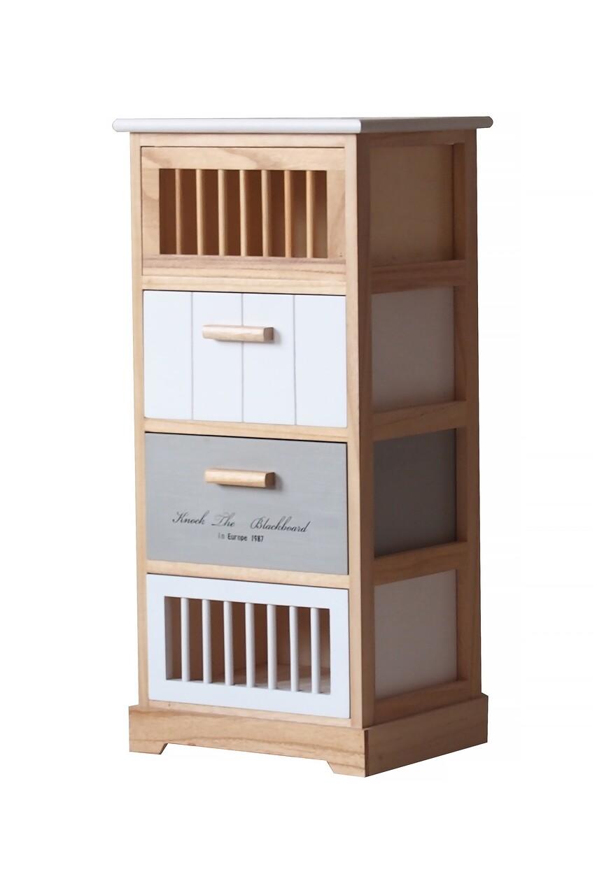 Comoda Slim, Bedora, MDF, lemn, 35x30x76.5 cm