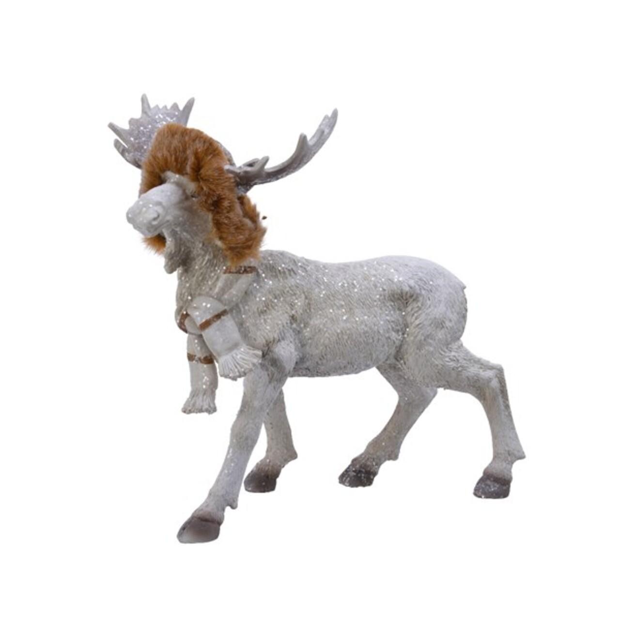 Decoratiune Moose w fur hat, Decoris, 12x24x23.5 cm, poliamida, multicolor