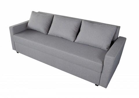Canapea Extensibila Firenze Grey 218x85x85 cm + lada de depozitare