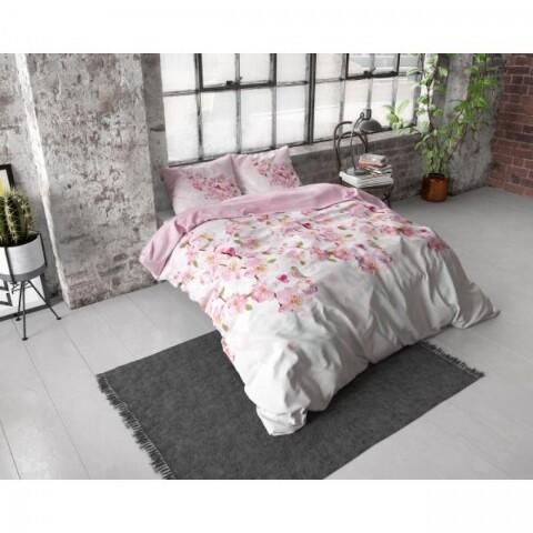Lenjerie de pat pentru doua persoane Sweet Flowers Pink, Royal Textile, Flannel