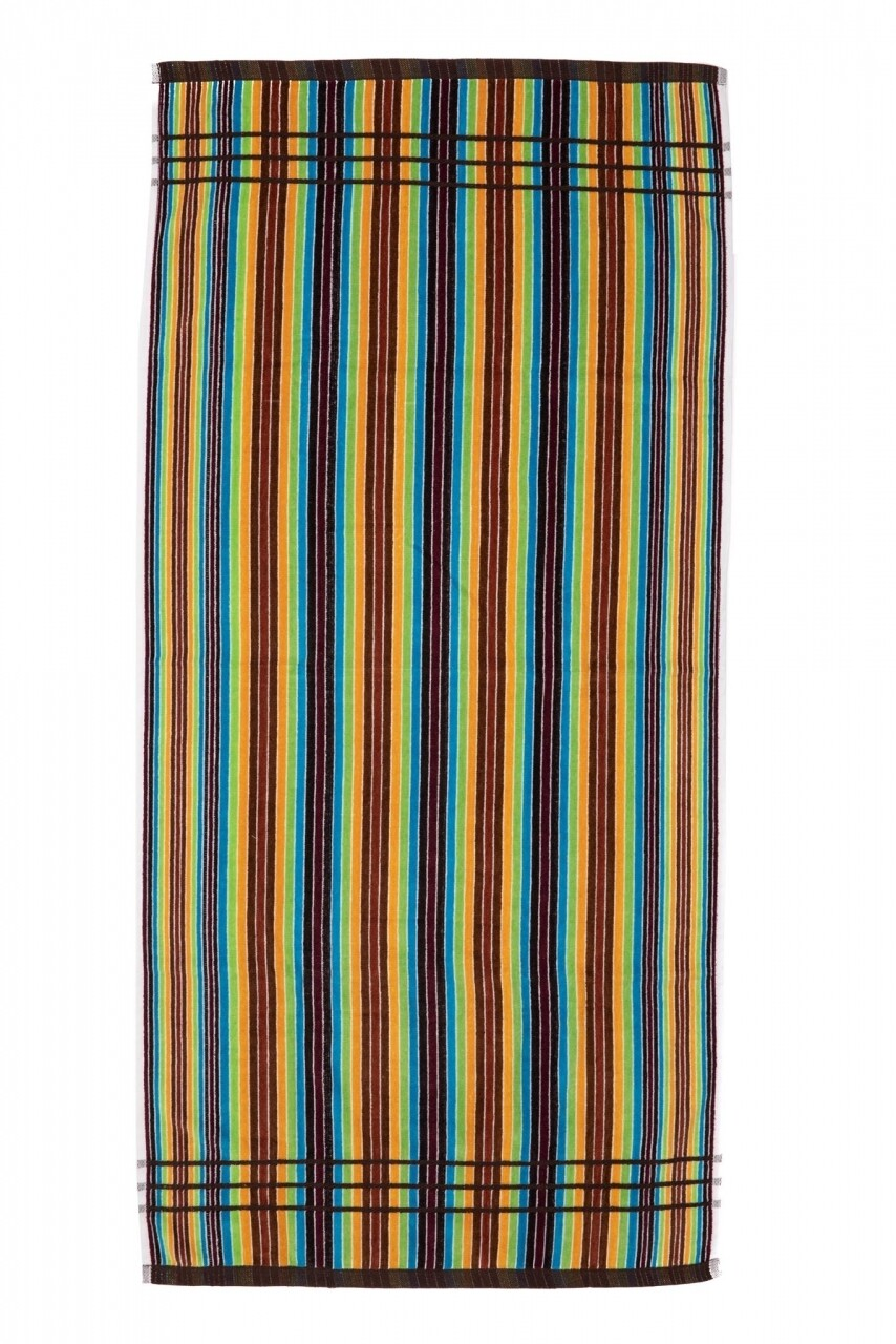 Prosop de plaja Lines Rainbow, Heinner, 70 x 140 cm, 80% bumbac/ 20% poliester, multicolor