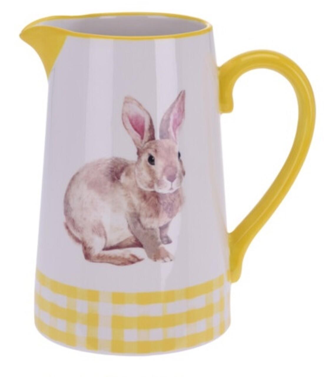 Carafa Bunny, 16.3x11.6x17.7 cm, dolomita, galben
