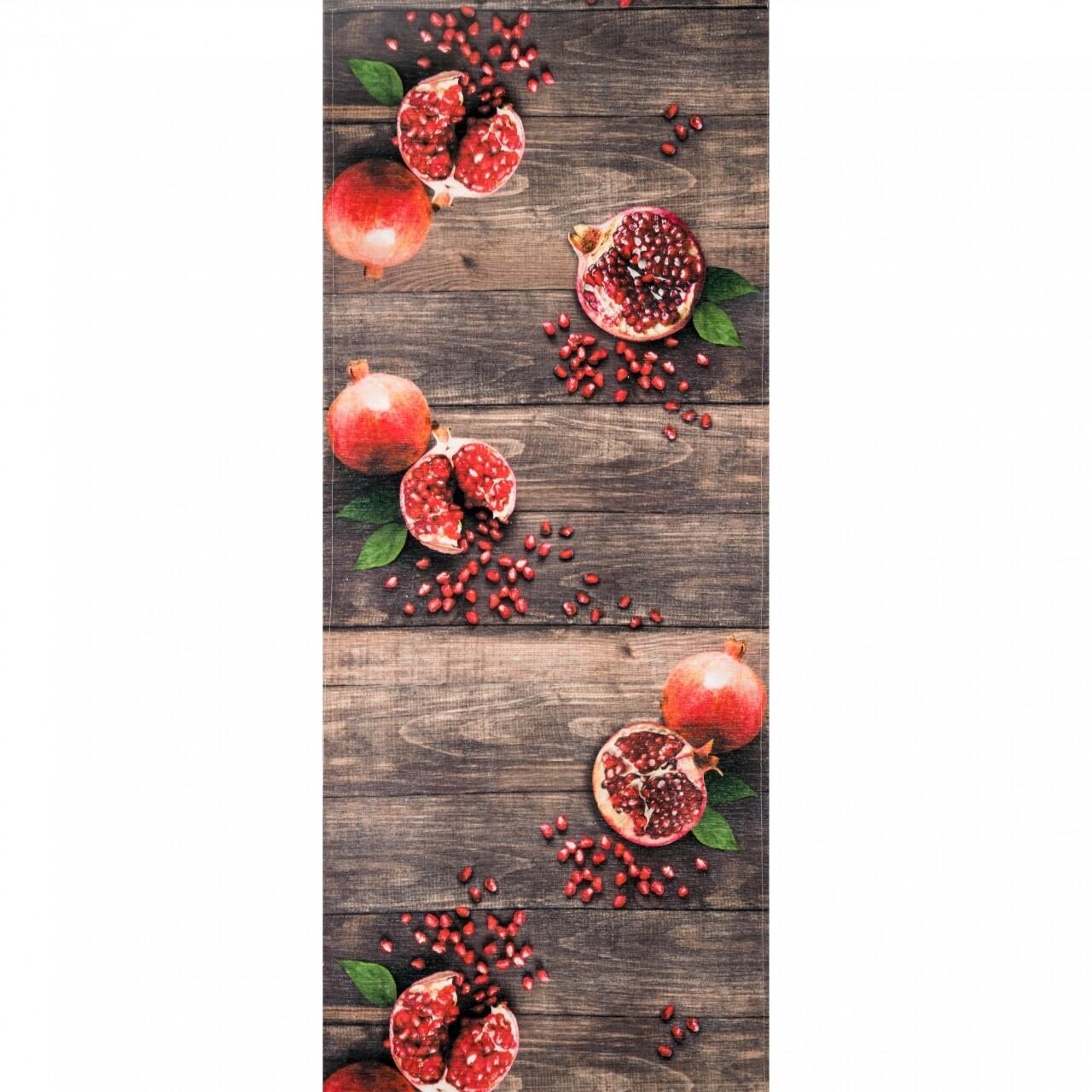 Covor rezistent Webtappeti MELOGRANA CM 58x240 cm, maro/rosu/verde