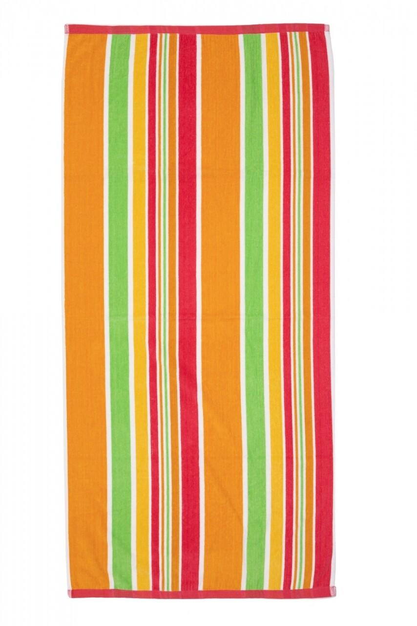 Prosop de plaja Stripe Red, Heinner, 70 x 140 cm, 80% bumbac/ 20% poliester, multicolor