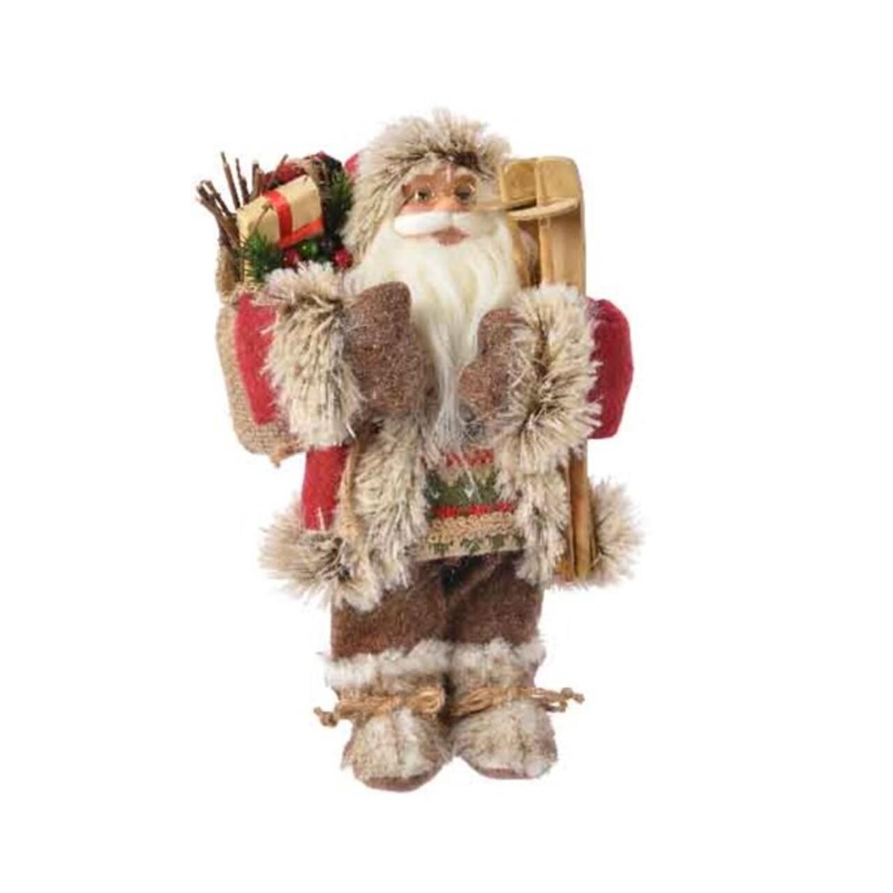 Decoratiune Santa country style, Decoris, H30 cm, poliester, multicolor