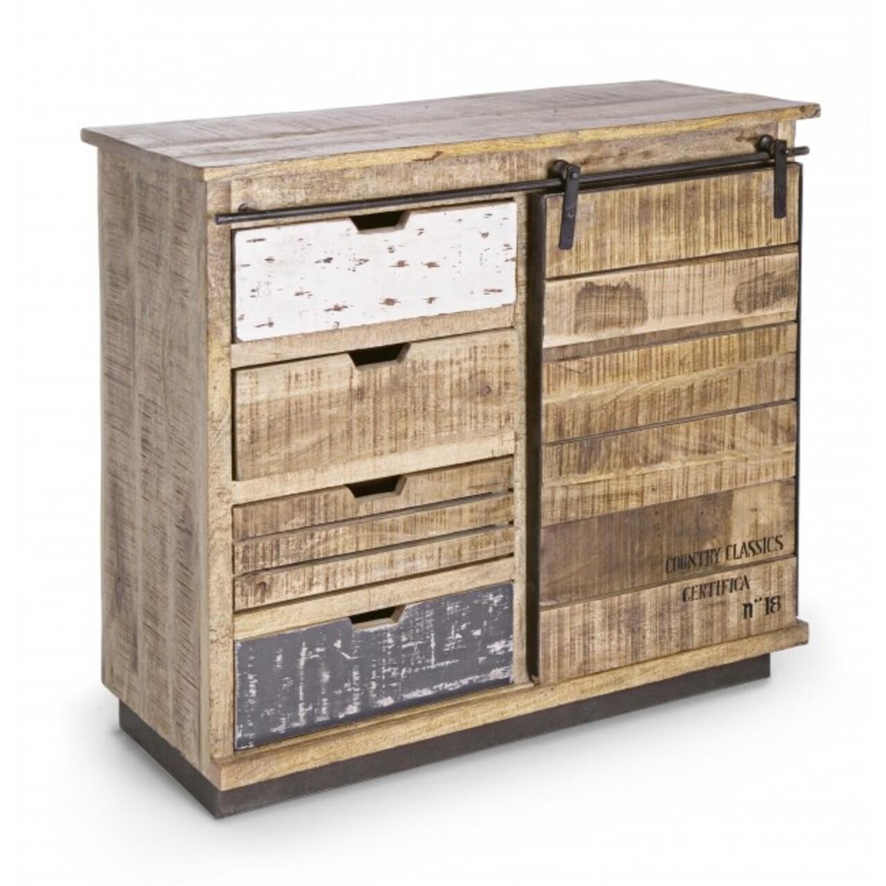 Bufet inferior, Tudor, Bizzotto, 90x35x85 cm, lemn de mango
