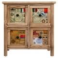 Comoda cu 4 sertare Travel, Creaciones Meng, 48x25x50 cm, lemn de paulownia