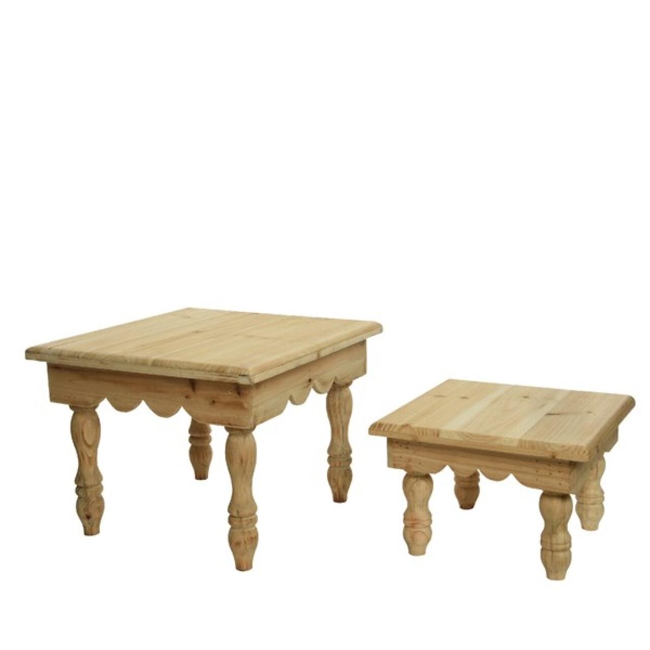 Set tabureti Decoris, lemn de brad, nature