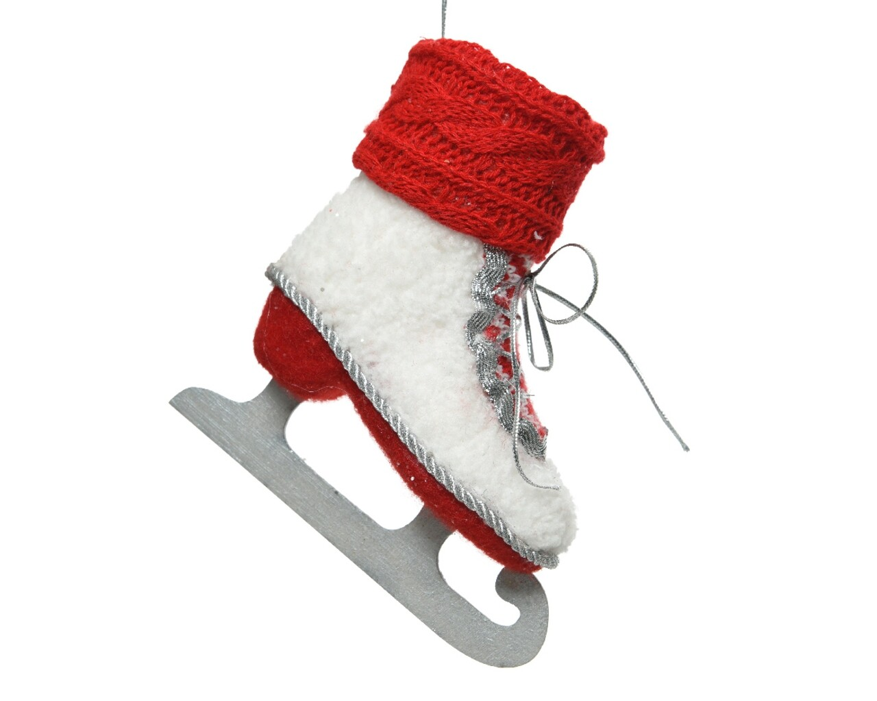 Decoratiune, Decoris, Ice skate, 9x24x25 cm, Rosu/alb