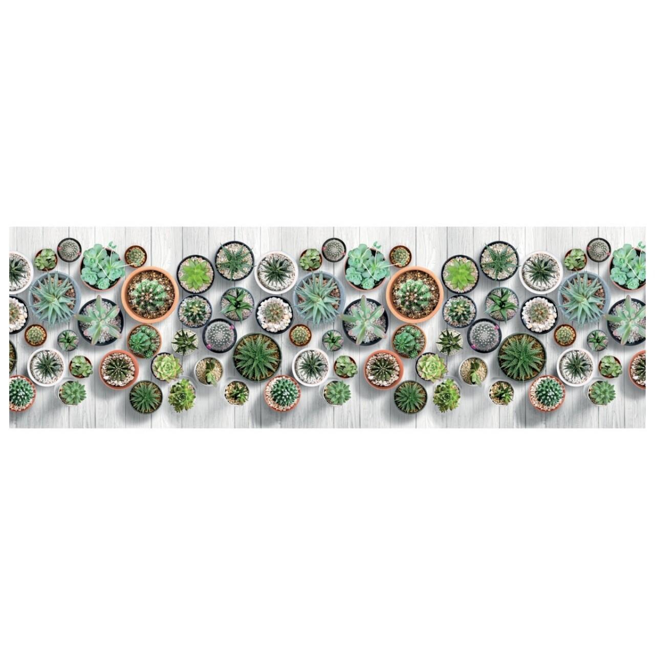 Covor rezistent Webtappeti Cactus 58 x 140 cm, multicolor