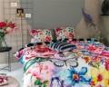 Lenjerie de pat pentru doua persoane Adaline Multi, Melli Mello, 100% bumbac satinat