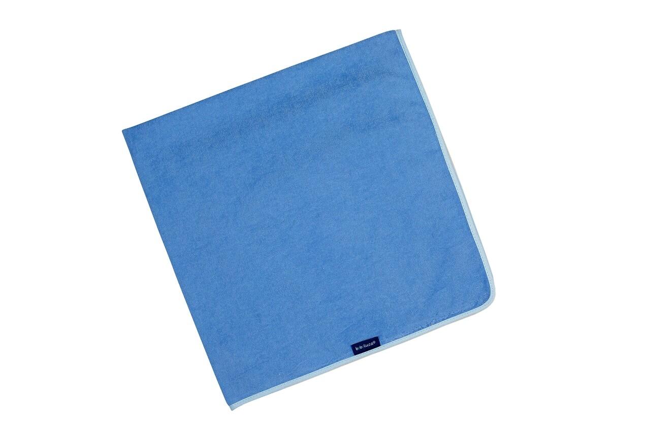Aleza impermeabila-reutilizabila bebelusi, 72x72 cm, Albastra