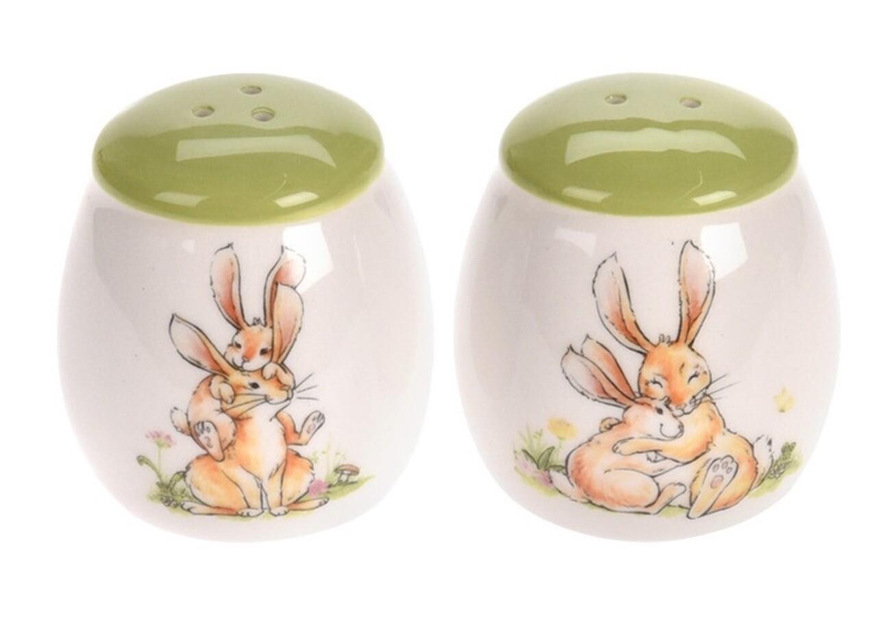 Set solnita si pepernita Easter, 5x7 cm, dolomita, verde