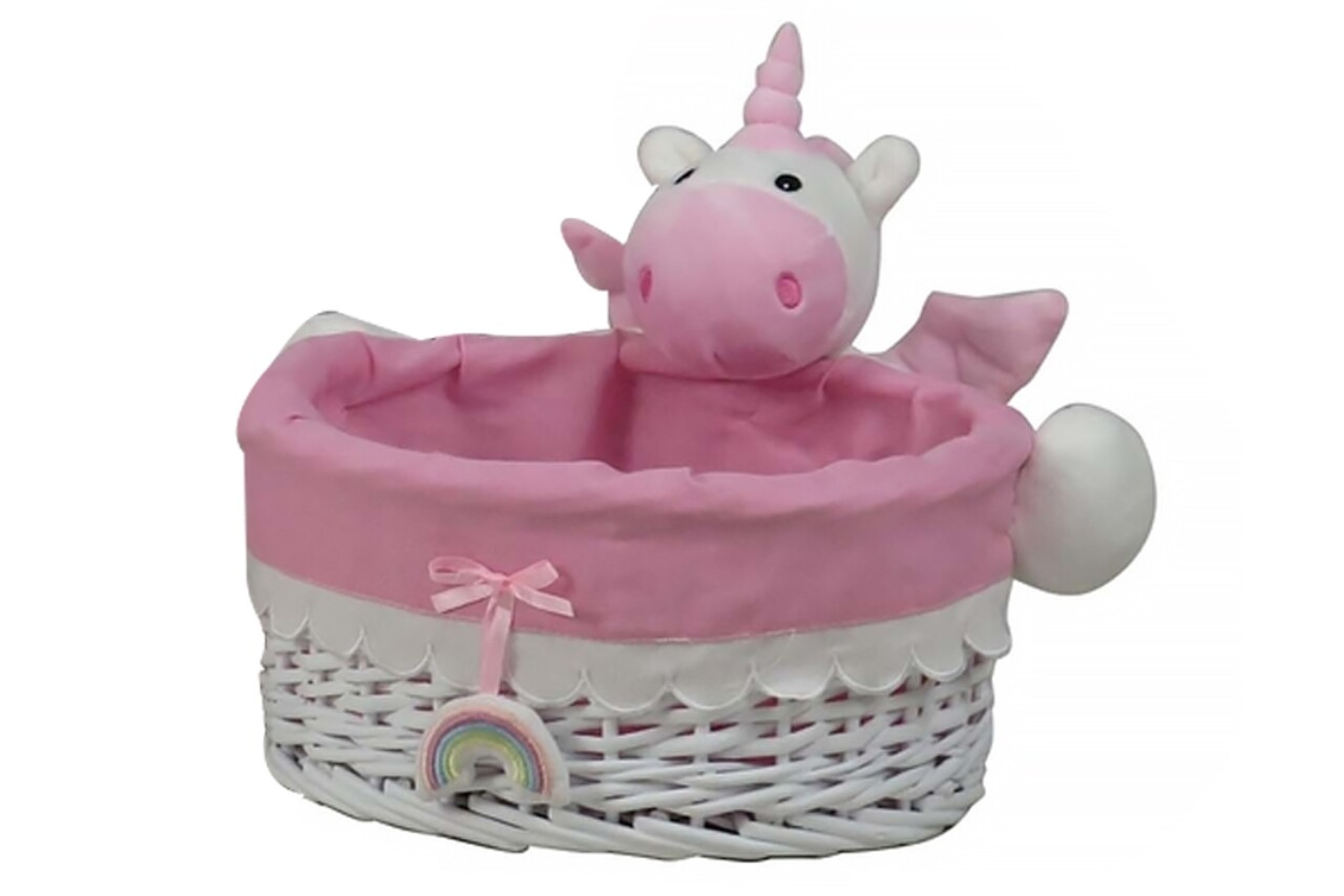 Cos M Unicorn, Bedora, salcie/material textil, alb/roz