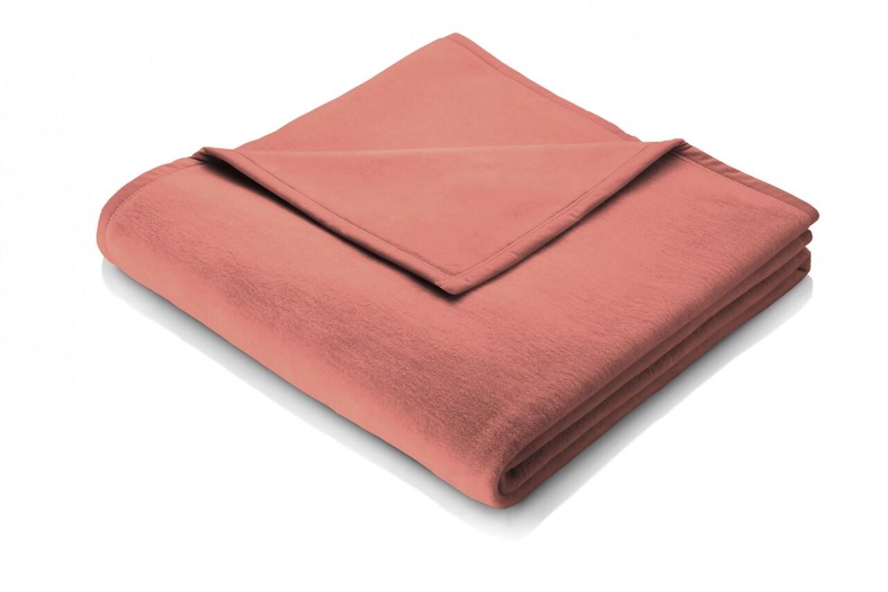 Patura Biederlack Tonerde, 150x200 cm, roz pudrat