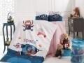 Lenjerie de pat pentru copii Space, Nazenin Home, 4 piese, 100% bumbac ranforce, multicolora