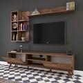 Comoda TV cu 3 rafturi de perete M42 - 311, Wren, 180 x 35 x 48.6 cm/ 90 cm/133 cm, walnut