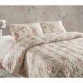 Set de pat Eponj Double Care Pink, cuvertură matlasata 200 x 220 cm, 2 fețe de pernă 50 x 70 cm