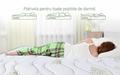 Saltea Aloe Vera Memory Pocket 7 zone, Husa Aloe Vera, Super Ortopedica, Anatomica, 80x200 cm