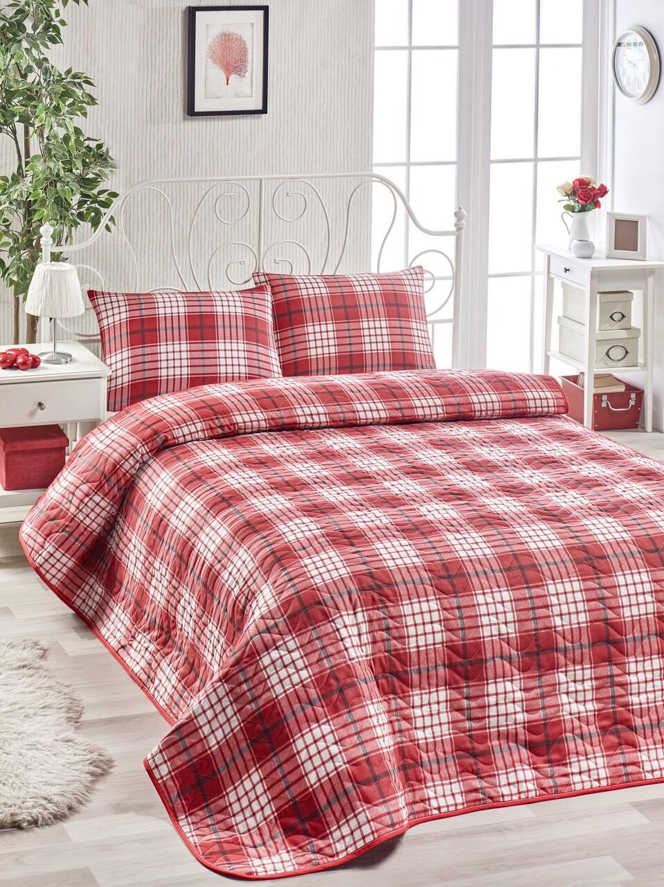 Set cuvertura de pat, EnLora Home, Burberry, 3 piese, Multicolor