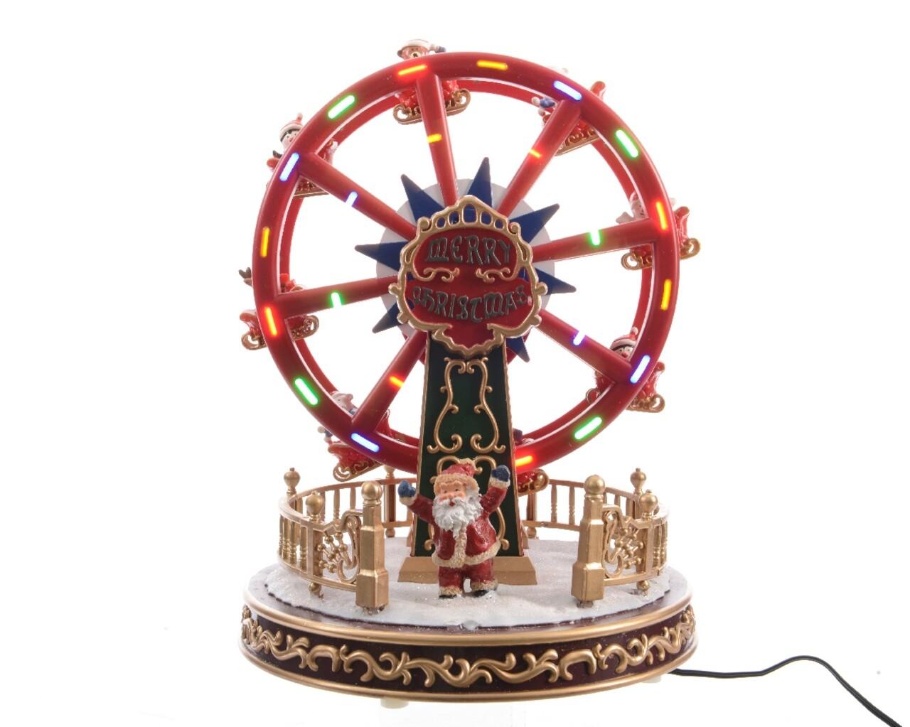 Decoratiune Lumineo, Wheel, cu sunet si lumini,10 LED-uri, multicolor