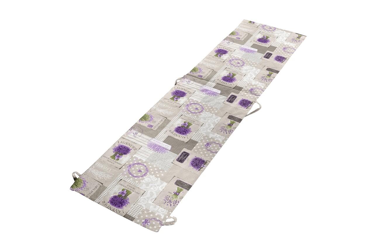 Perna sezlong Alcam, Midsummer, 195x50x3 cm, microfibra matlasata, Lavanda