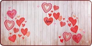 Covor pentru bucatarie, Olivio Tappeti, Miami 3, Love, 50 x 100 cm, poliester, multicolor