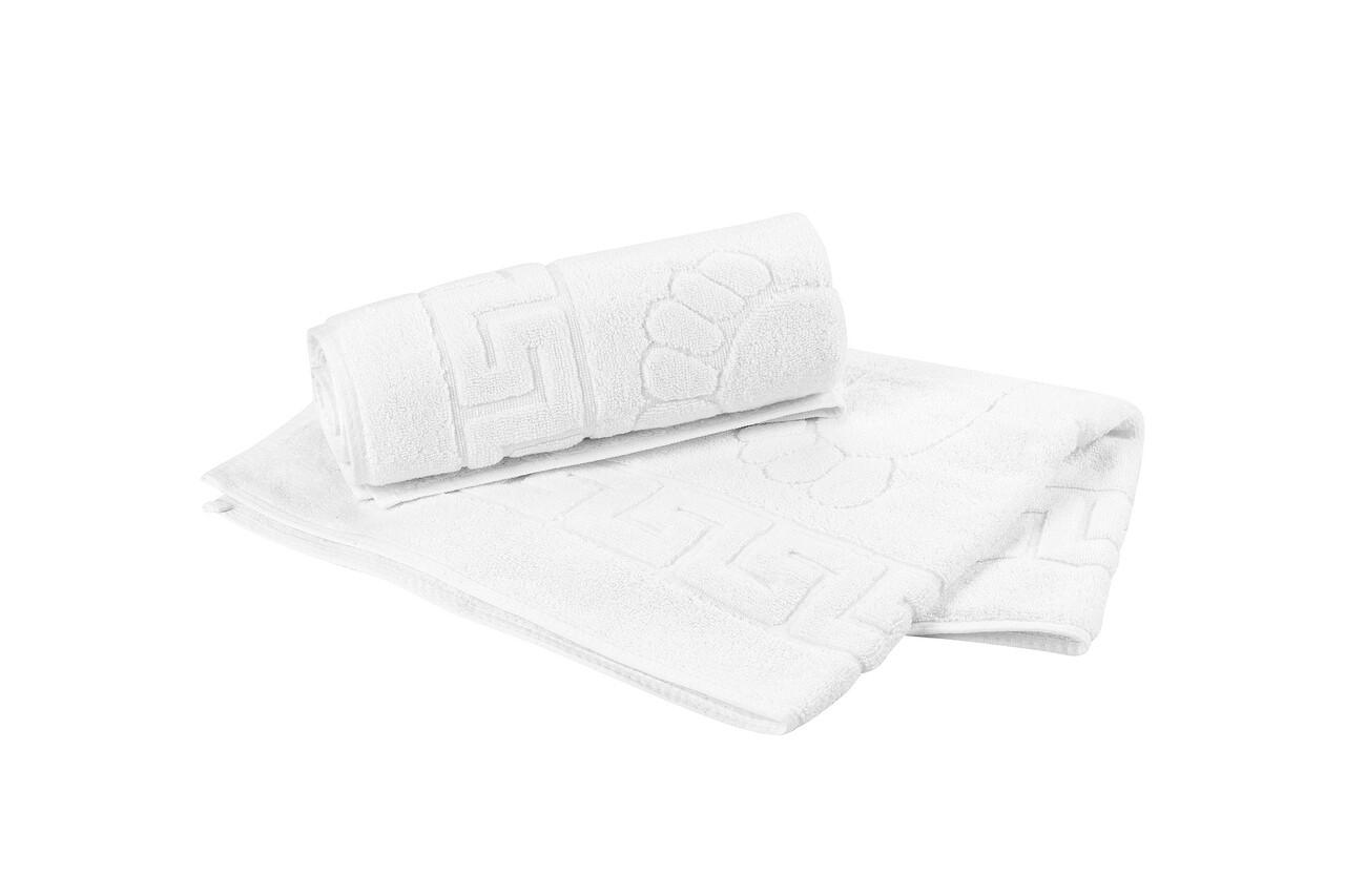 Set 2 prosoape pentru picioare Hotel Line, Bedora, 50 x 70 cm, 100% bumbac cardat, 650 gr/mp, alb