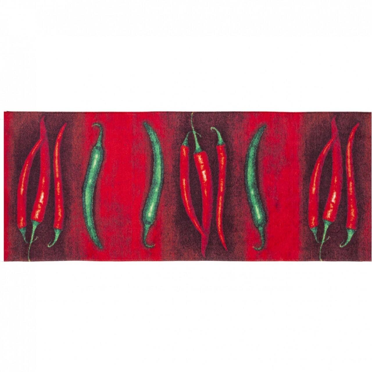 Covor rezistent Webtappeti PEPERONCINI 60X110 cm, rosu