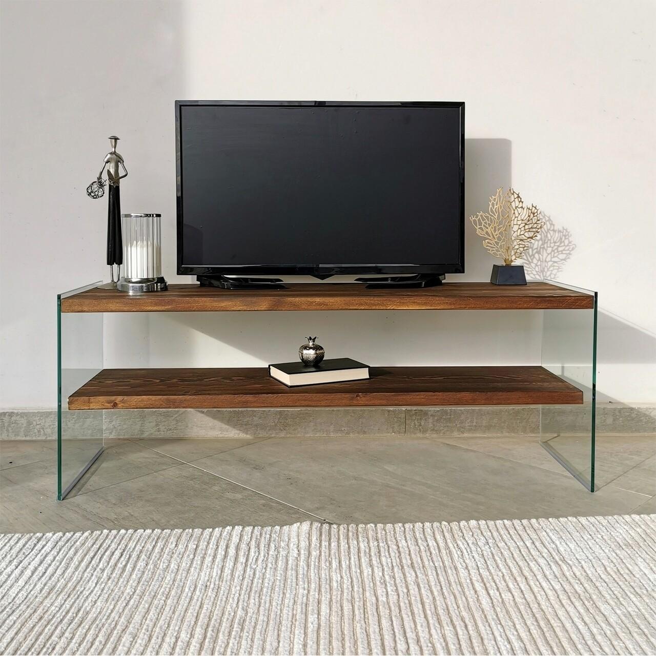 Comoda TV Neostill TV103, 120 x 35 x 45 cm, walnut