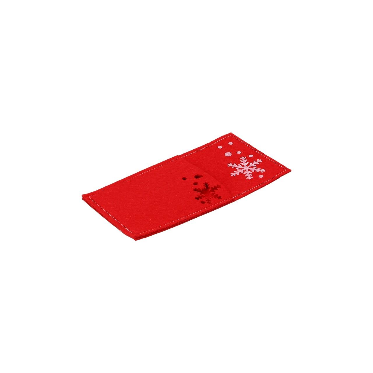 Set 6 suporturi din fetru pentru tacamuri, Tognana Stella di Natale